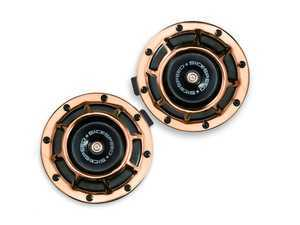 ES#3247897 - BTH-S203RG - 2 Piece Super Loud Horn Kit - Rose Gold - Upgraded 118dB horns in the color of your choice - Sickspeed - Audi BMW Volkswagen Mercedes Benz MINI Porsche