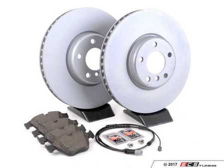 ES#3236365 - 341168512691KT2 - Front Brake Service Kit - Featuring Zimmermann rotors and Pagid pads - Assembled By ECS - BMW