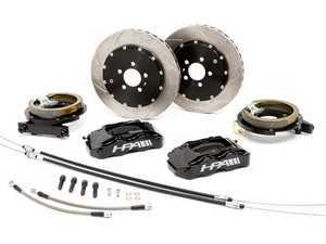ES#3247387 - HVA-213-BLACK - HPA Rear Big Brake Kit - Slotted Rotors (335mm) - With Black Calipers - The perfect complement to HPA's 6-Piston Front Aluminum Brake Kit - HPA Motorsports - Audi Volkswagen