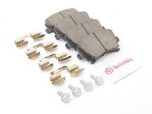 ES#3248075 - P85073N - Rear Ceramic Brake Pad Set - Restore your stopping power. Includes hardware. - Brembo - Audi Volkswagen