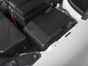 ES#3176104 - 019727ECS01 -  Carbon Fiber Fuse Box Overlay - Easy to install carbon fiber cover to add subtle enhancements under your hood - ECS - Audi Volkswagen