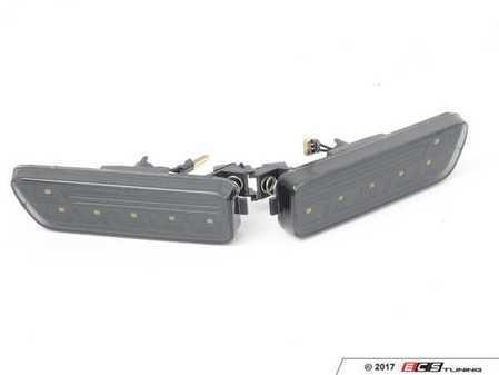 ES#3220933 - 341-1404P3A-2S - White LED Bumper Side Marker Set - Smoked - Smoked side markers with white LEDs - Depo - Volkswagen