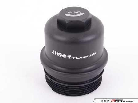 ES#3202749 - 017306ECS01 - Billet Aluminum Oil Filter Housing Cap - Black Anodized - Gorgeous aluminum upgrade for OE plastic cap. No more damaged threads or rounded heads! - ECS - BMW