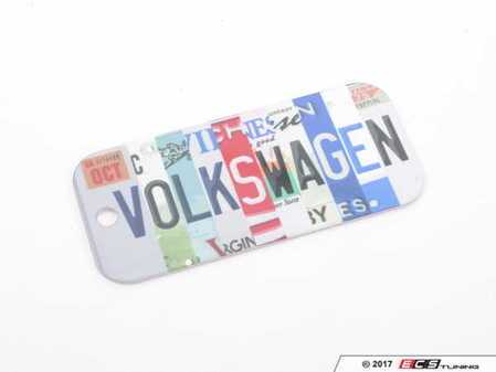 ES#3233057 - DRG008994 - License Plate Keychain  - Use the internet to keep your keys safe - Genuine Volkswagen Audi - Volkswagen