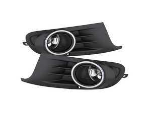 ES#3410342 - FL-VG2010-C - OE Style Fog Light Kit - Clear - Add fog lights to your MK6 Golf or Jetta SportWagen - Spyder - Volkswagen
