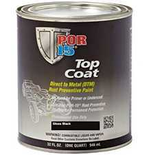 ES#3410409 - POR45804 - POR15 Top Coat Gloss Black Quart - Protect your metal with the best - POR-15 - Audi BMW Volkswagen Mercedes Benz MINI Porsche