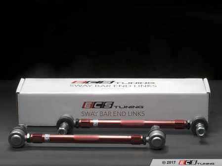 ES#3184741 - 002460ECS01A -  Adjustable Front Sway Bar End Links - Pair  - A must have for lowered suspensions or as a heavy duty OE-replacement. Adjustable from 290mm - 340mm - ECS - Audi Volkswagen