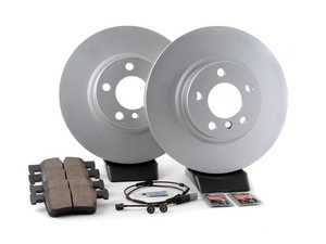 ES#3046844 - 34106787490kt2 - Front brake service kit  - Featuring Zimmermann coated rotors and Akebono pads - Assembled By ECS - BMW