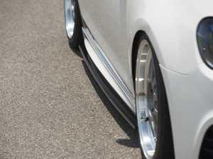 ES#3419082 - 021105ECS0102KT -  Side Skirt Extension Set - Gloss Black Fiberglass - Add aggressive styling to your existing MK6 Golf R side skirts - ECS - Volkswagen