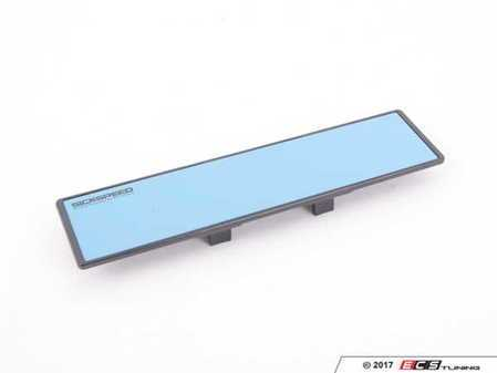 ES#3170146 - BLU FLAT MIRROR - Panorama HD Series Clip-on Wide Mirror - Flat 280mm - Wide view clip-on mirror with black frame and blue glass. - Sickspeed - BMW Volkswagen MINI