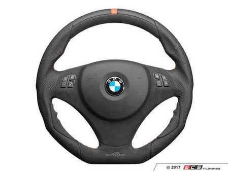 ES#3410895 - 323410420 - AC Schnitzer EVO1 Steering Wheel - featuring orange stitching with multi-function wheel without paddles - AC Schnitzer - BMW