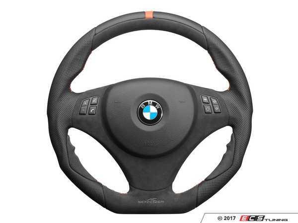 ES#3410895 - 323410420 - AC Schnitzer EVO1 Steering Wheel - featuring orange stitching with multi-function wheel without paddles - AC Schnitzer - BMW