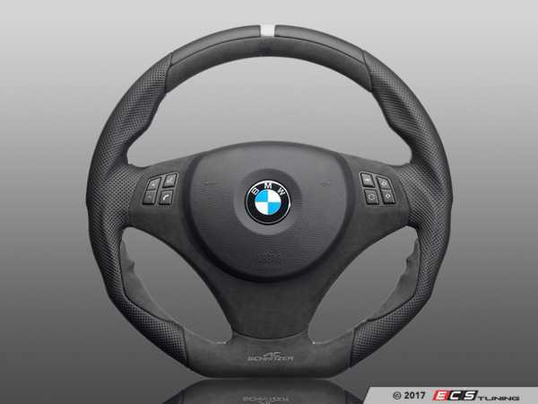 ES#3410899 - 323410530 - AC Schnitzer EVO1 Steering Wheel - featuring grey stitching with multi-function and paddles - AC Schnitzer - BMW
