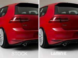 ES#3248185 - 021407ECS01 - Rear Bumper Reflector Film Set - GunSmoke  - Pre-cut Lamin-X film to cover both red reflectors on the rear bumper cover - ECS - Volkswagen