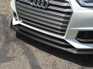 ES#3220704 - 022539ECS01 - Carbon Fiber Front Lip Overlay  - Add a subtle touch of carbon fiber to your B9 A4/S4 front bumper - ECS - Audi