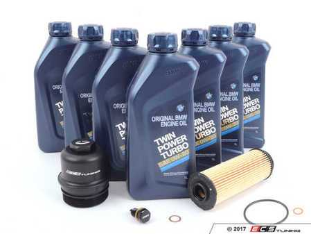 ES#3410277 - 83212365954KT1 - 0W-20 Genuine BMW Oil Change Kit - With ECS Magnetic Drain Plug And Aluminum Oil Filter Cap - Includes ECS magnetic drain plug for superior engine protection and Billet Aluminum Oil Filter Cap to prevent damaged threads or rounded heads! - Assembled By ECS - BMW