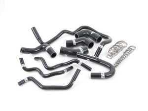 ES#2730822 - 003590ECS01 -  9-Piece Silicone Coolant Hose Kit - Black - Silicone coolant hose kit to upgrade from your stock rubber hoses. Includes stainless steel hose clamps. - ECS - Audi Volkswagen