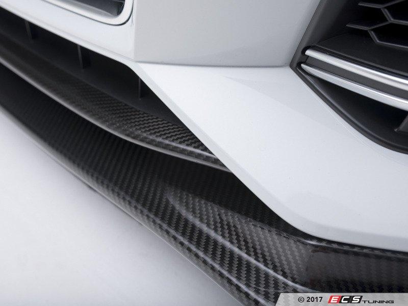 ECS News - ECS Carbon Fiber Front Lip Overlay Audi B9 A4/S4