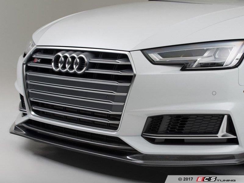 Ecs News Ecs Carbon Fiber Front Lip Overlay Audi B9 A4