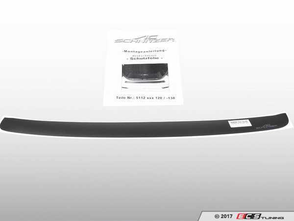ES#3410995 - 5112330110 - Rear Bumper Protection Foil - Black - Black stick on protective decal - AC Schnitzer - BMW