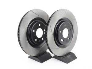 ES#3135671 - 126.33137SLkt - Rear Slotted Brake Rotors - Pair (330x22mm) - Upgrade your stopping power - StopTech - Audi