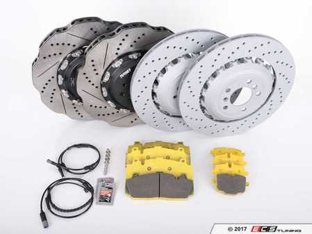 ES#3241116 - F10PERFRPSKT - Performance Front And Rear Brake Service Kit - Everything you need to service your brakes in one kit. Includes Turner TrackSport front rotors with OEM Zimmermann rears, and features Pagid Racing Yellow pads - ideal for the track and very streetable. - Assembled By ECS - BMW