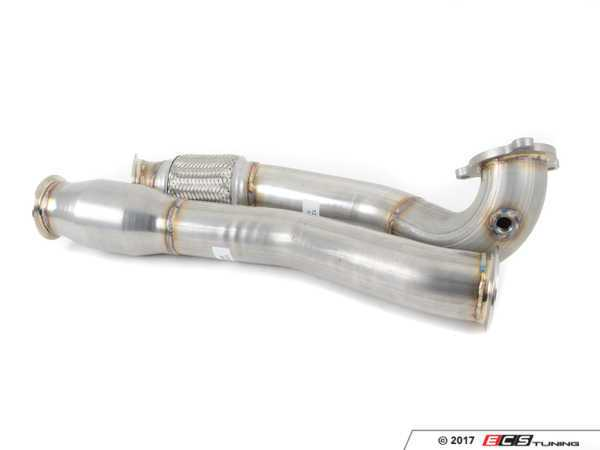 "ES#3080058 - 6885578 - 3"" Turbo-Back Exhaust System - Aluminized Steel - Non-Resonated - Aluminized Steel construction with 200-cell high flow cat, with dual 3.5"" polished tips - 42 Draft Designs - Volkswagen"