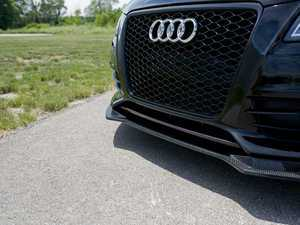 ES#3218893 - 022693ECS01 - Carbon Fiber Front Lip Overlay  - Add a subtle touch of carbon fiber to your front bumper - ECS - Audi