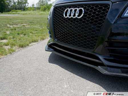 ES#3218893 - 022693ECS01 - Carbon Fiber Front Lip Overlay  - Add a subtle touch of carbon fiber to your front bumper - ECS - Audi