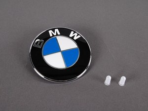 ES#240207 - 51148203864KT - Trunk Emblem & Grommet Kit - New trunk emblem with two securing grommets for your BMW - Genuine BMW - BMW