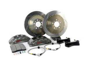 ES#3118439 - 83.156.6800.R1 - StopTech front 6 piston Trophy big brake kit (380x32mm)  - Upgrade to a trophy kit with ultra lightweight uncoated slotted rotors and 6 piston lightweight calipers with a hard anodized coating. - StopTech - BMW