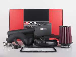 "ES#3494042 - 016310ecs0102KT - Luft-Technik Intake System - With Aluminum Heat Shield & Wrinkle Black Aluminum Tubes - In House Engineered ""Air Technology"" Featuring a CNC-bent heat shield, reusable air filter, 3.0"" tubes and a CNC MAF housing for maximum performance and stunning aesthetics! - ECS - Volkswagen"