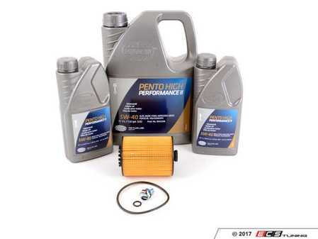ES#3184765 - 03H115562KT0 - Oil Service Kit - Includes Hengst oil filter and Pentosin 5w-40 oil - Assembled By ECS - Volkswagen Porsche