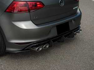 ES#3194987 - GO-7-R-HB-CNCRS1 - Rear Diffuser with Side Splitters - Give your R a more aggressive look! - Maxton Design - Volkswagen