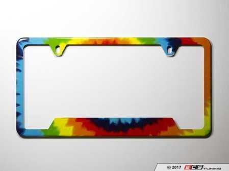 ES#3096586 - K3PF0 - License Plate Frame - Tie-Dye - North American license plate frame wrapped in tie-dye - Klii Motorwerkes - Audi BMW Volkswagen Mercedes Benz MINI Porsche