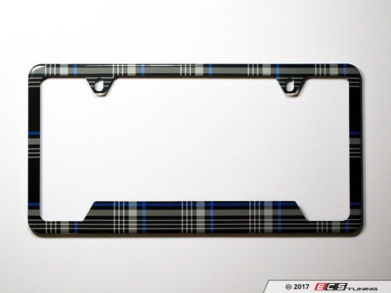 Klii Motorwerkes - K14PF0 - License Plate Frame - MK7 TDI Plaid