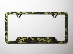 ES#3096398 - K15PF0 - License Plate Frame - Woodland Camo  - North American license plate frame wrapped in woodland camo - Klii Motorwerkes - Audi BMW Volkswagen Mercedes Benz MINI Porsche