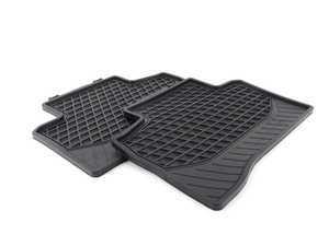 ES#3185679 - 25368038039G33 - Rear All-Season Floor Mat Set - Black - Pair of rubber mats superior interior protection - Genuine Mercedes Benz - Mercedes Benz