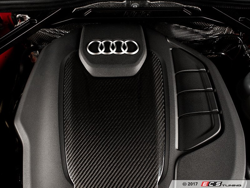 ECS News ECS Carbon Fiber Engine Cover Overlay Audi B AA - Audi a5 car cover