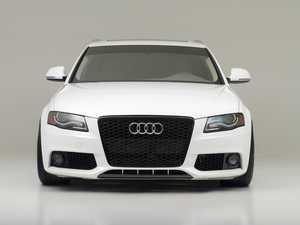 ES#3202628 - 022692ECS01 - Carbon Fiber Front Lip Overlay  - Add a subtle touch of carbon fiber to your B8 A4 front bumper - ECS - Audi