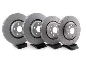 ES#3241139 - 8j0301gslgKT - Front And Rear Slotted Brake Rotor Kit (340x30/310x22) - Featuring GEOMET protective coating. - ECS - Volkswagen