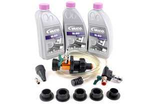 ES#3420790 - g013a8jm1kt5 - Coolant Flush Kit - Includes Schwaben coolant refill/air purge tool and 4.5 liters of G13 coolant. - Assembled By ECS - Audi Volkswagen