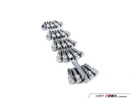 ES#3420209 - LB14X15CM - Conical Seat Tuner Spline Bolt Set - Medium Length - Chrome - Full set of chrome tuner style, socket-specific lug bolts. 14x1.5x32mm - Rohana Wheels - Audi BMW Volkswagen
