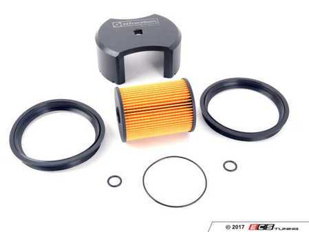 ES#3184759 - 16146757196KT1 - Fuel Filter Kit & Lock Ring Tool - Includes Vaico gaskets and filter to keep your fuel clean - Assembled By ECS - MINI