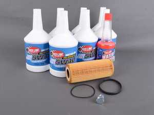 ES#3426744 - 12404KT1 - Oil Service Kit - Premium  - Includes Redline Euro-Series synthetic oil, Hengst filter, and drain plug - Assembled By ECS - Audi