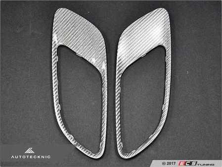 ES#3424124 - BM-0238-SF - Hood Vent Trim Kit - Silver Fiber  - Direct replacement silver fiber hood vent trims - AUTOTECKNIC - BMW