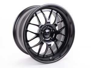 "ES#3411838 - gw3e60m5KT - 19""Forgeline GW3 staggered wheel set  - 19x9 et9, 19x10 et22, 3-Piece wheels with Gloss black face with matte black lips - Forgeline - BMW"