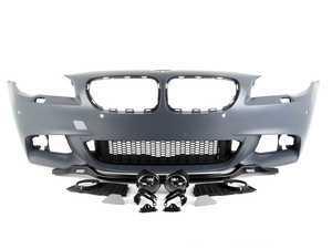 ES#3410420 - F10MTFT-PDC - M Sport Style Front Bumper - Add the more aggressive front bumper from the M Sport package - ECS - BMW