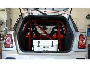 ES#4039469 - 2028310RD - SNEED4SPEED MINI Cooper 4 Point Roll Bar - Painted Red - Solid mounted easy fit roll bar for your track or street MINI - Sneed4Speed - MINI