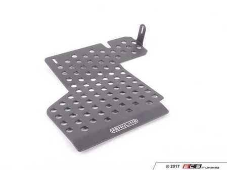 ES#2840016 - F15PBLACK - Perforated Aluminum Floor Board - Black - Left side fitment - Rennline - Porsche